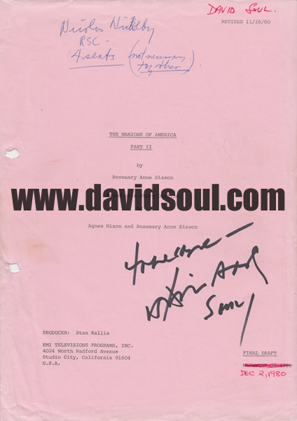 David Soul — The Manions of America